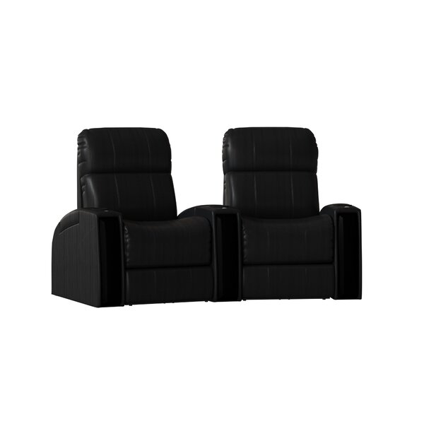 Contemporary Home Theater Curved Row Seating (Row Of 2) By Latitude Run