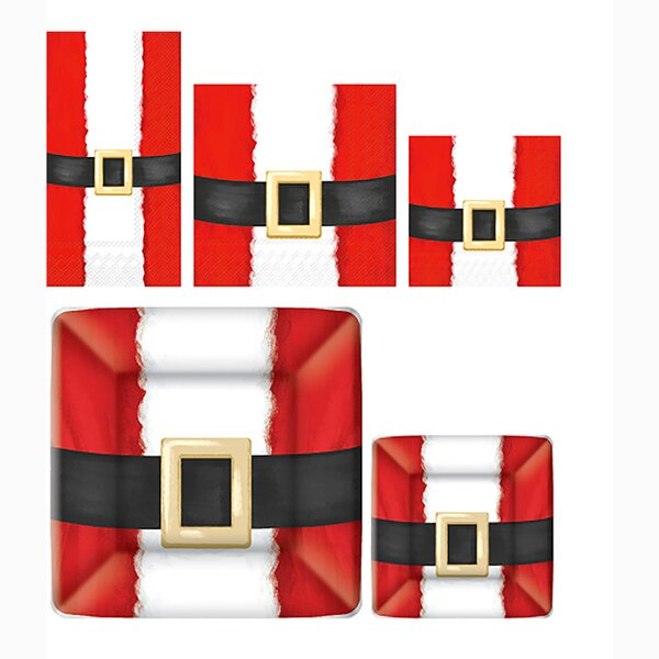 Santa Suit 5 Piece Paper Dinner Set by Boston International