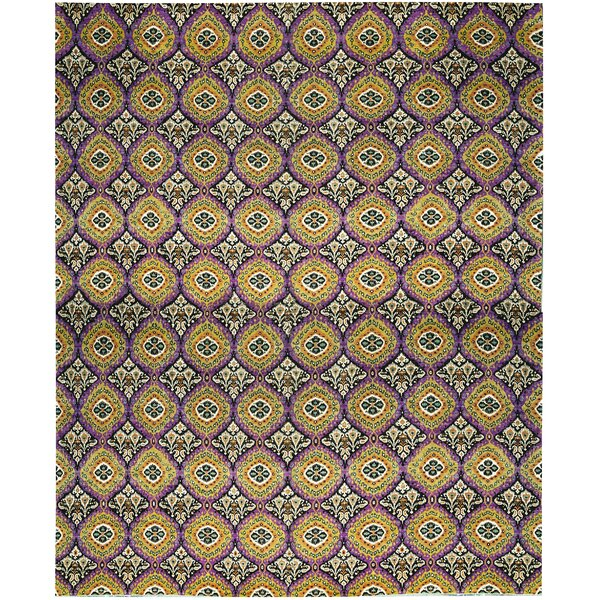One-of-a-Kind Hand-Knotted Wool Purple/Yellow Indoor Area Rug by Bokara Rug Co., Inc.