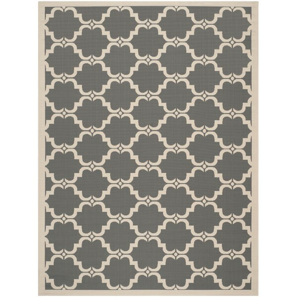 Short Anthracite/Beige Geometric Contemporary Rug by Winston Porter
