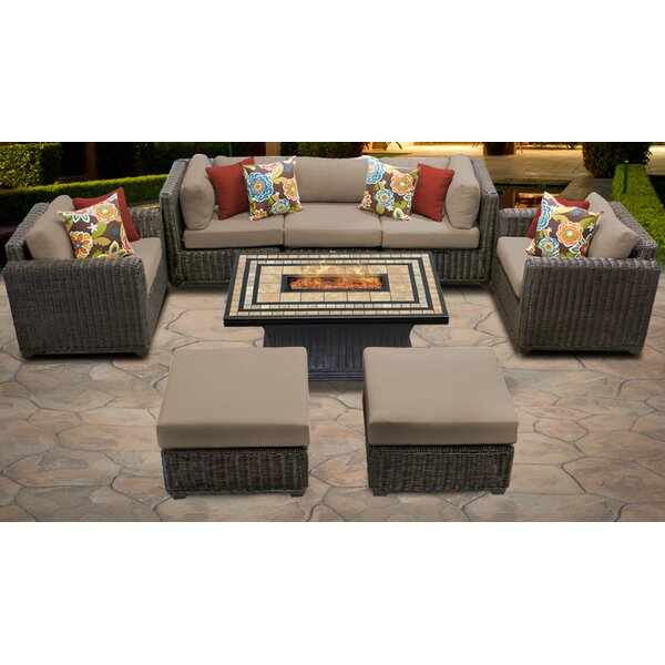 Mejia 8 Piece Sofa Seating Group with Cushions by Rosecliff Heights