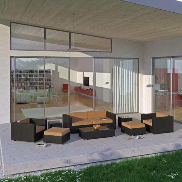Isacc 8 Piece Rattan Sofa Set with Cushions by Orren Ellis