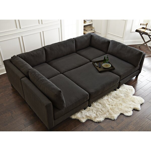Chelsea 120-inch Symmetrical Modular Sectional With Ottoman By Home By Sean & Catherine Lowe