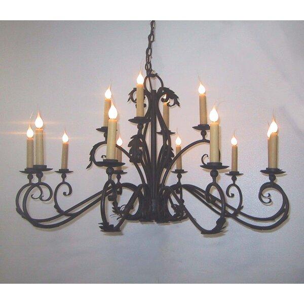 Ansonia 14-Light Candle Style Tiered Chandelier by Fleur De Lis Living Fleur De Lis Living