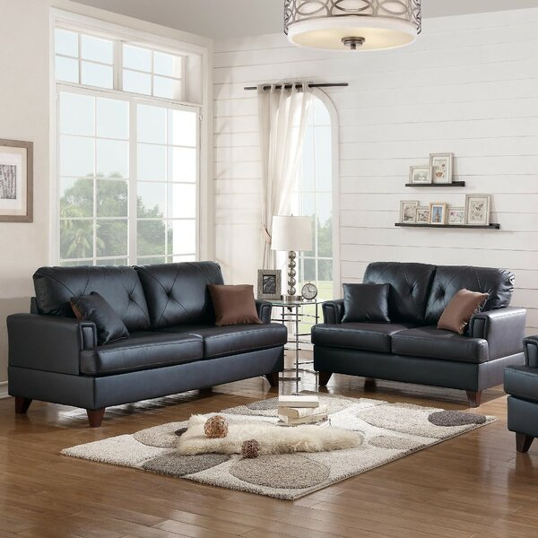 Komarek 2 Piece Leather Living Room Set by Red Barrel Studio