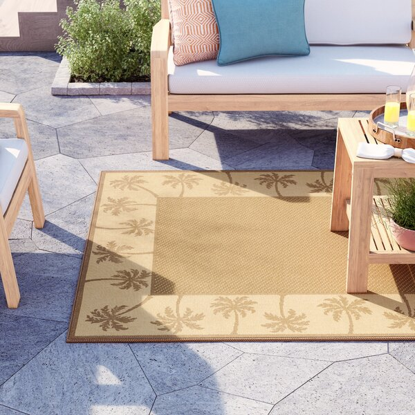 Barham Tan Indoor/Outdoor Area Rug by Sol 72 Outdoor