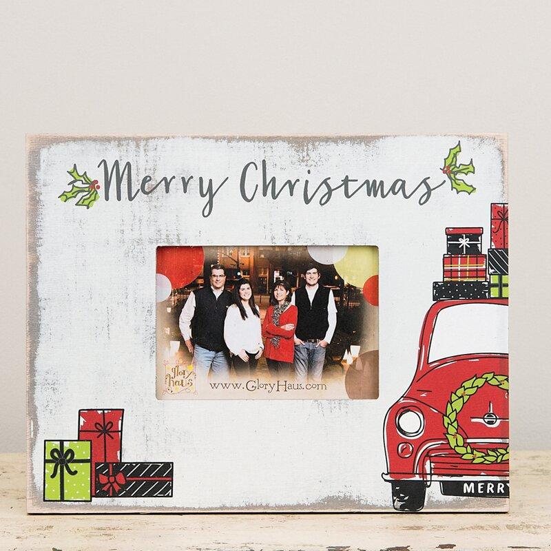 Glory Haus Merry Christmas Car Picture Frame & Reviews | Wayfair