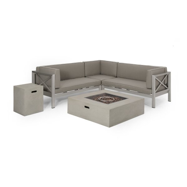 Kendall Outdoor 5 Piece Sofa Seating Group with Cushions by Orren Ellis