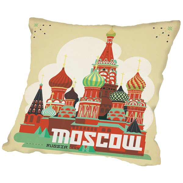 Moscow Throw Pillow by East Urban Home
