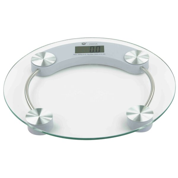 Glass Bathroom Round Digital Scale by Home Basics