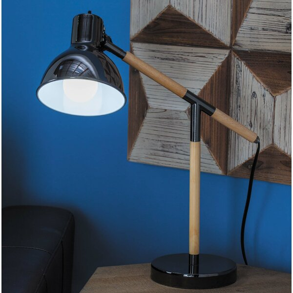Dillow Rubber Wood 19 Desk Lamp (Set of 2) by George Oliver