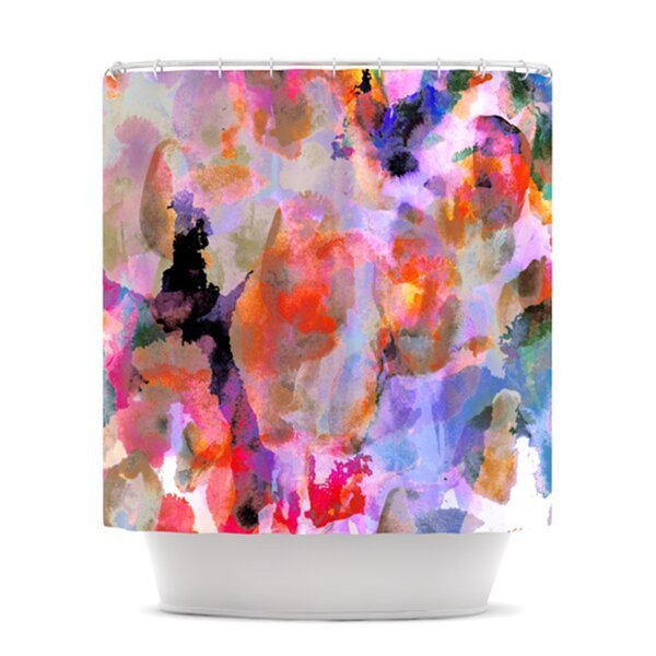 Painterly Blush Shower Curtain by KESS InHouse