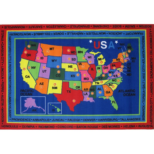 Fun Time State Capitals Kids Rug by Fun Rugs