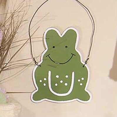One Little Froggie Frog Hanging Art by Brandee Danielle