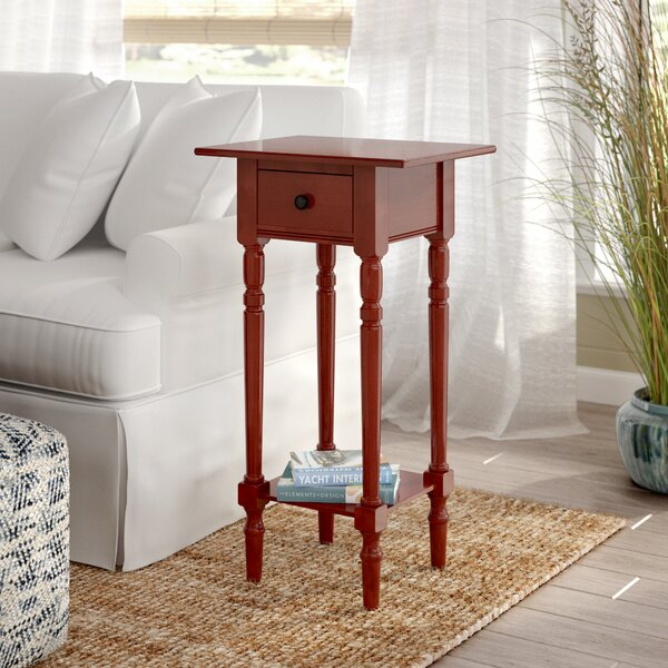 Regan Solid Wood End Table With Storage By Beachcrest Home