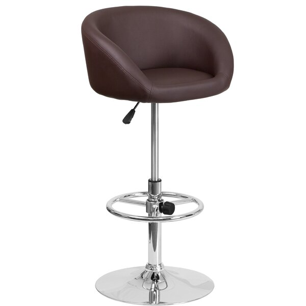 Nordquist Adjustable Height Swivel Bar Stool by Orren Ellis