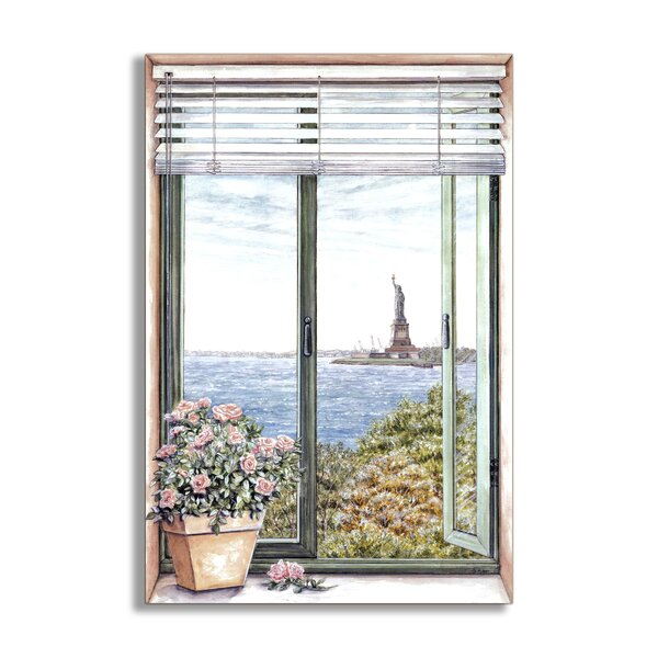 Statue of Liberty Faux Window Scene Wall Plaque by Stupell Industries