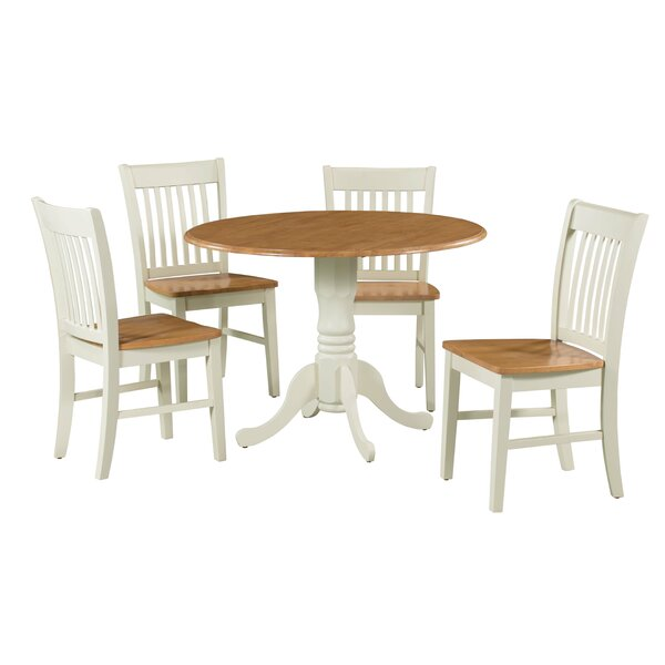 #2 Shorewood 5 Piece Extendable Solid Wood Dining Set By August Grove Read Reviews