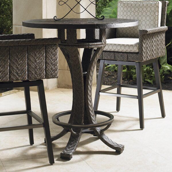 Blue Olive Wicker Rattan Bar Table by Tommy Bahama Outdoor