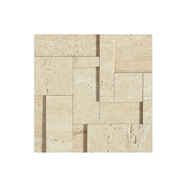 12 x 12 Travertine Mosaic Tile in Matte matte, beige by Kellani