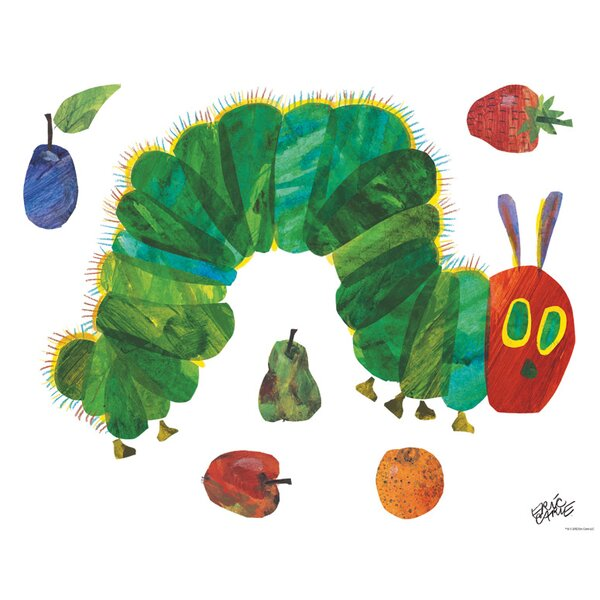 Ordinary Hungry Caterpillar Wall Stickers Part - 14: Oopsy Daisy Eric Carleu0027s Very Hungry Caterpillar (TM) - Small Peel And  Place Wall Decal U0026 Reviews | Wayfair