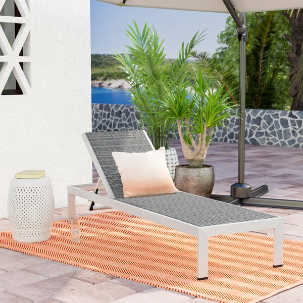 Outdoor Patio Chaise Lounge by Orren Ellis Orren Ellis