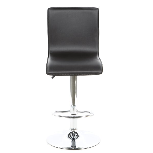 Clayton Adjustable Height Swivel Bar Stool by Latitude Run