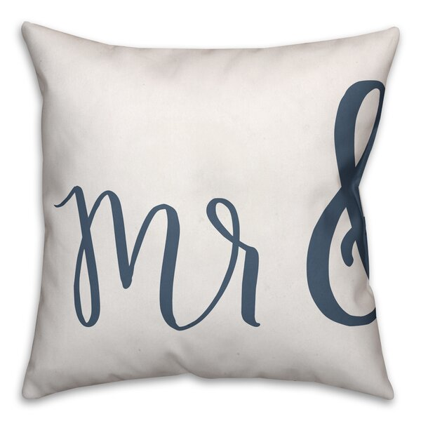 Jaxn Mr Mrs Throw Pillow Wayfairca Unique Mr And Mrs Decorative Pillows