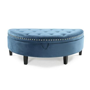 Fine Bloodworth Half Moon Tufted Storage Ottoman Andrewgaddart Wooden Chair Designs For Living Room Andrewgaddartcom