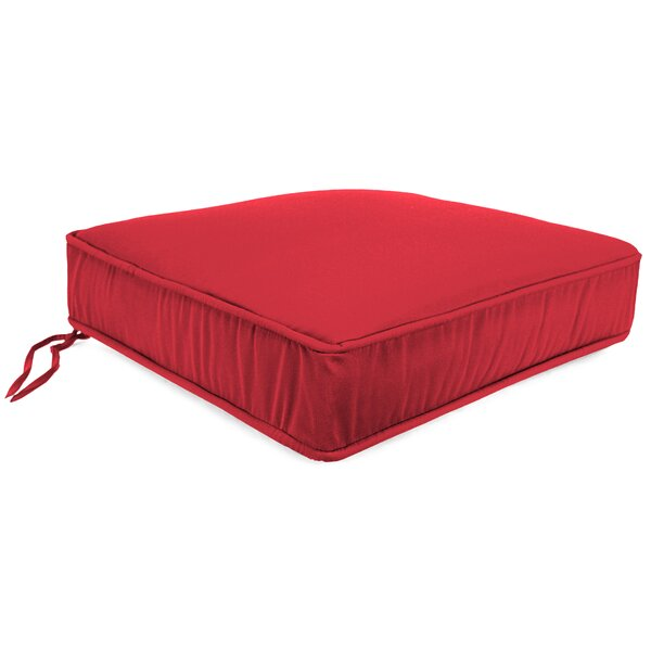 indoor  outdoor red sunbrella chaise lounge cushion by