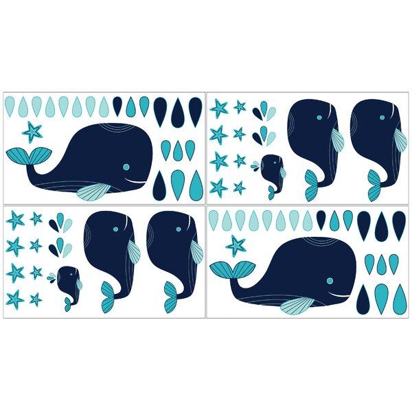 4 Piece Whale Wall Decal by Sweet Jojo Designs