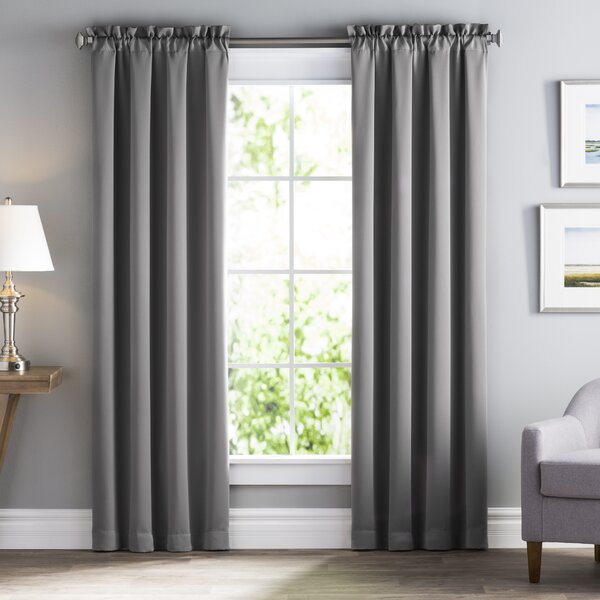 Wayfair Basics Solid Blackout Rod Pocket Single Curtain Panel by Wayfair Basics™