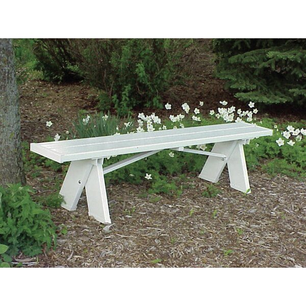 Lunas Plastic Picnic Bench by August Grove August Grove