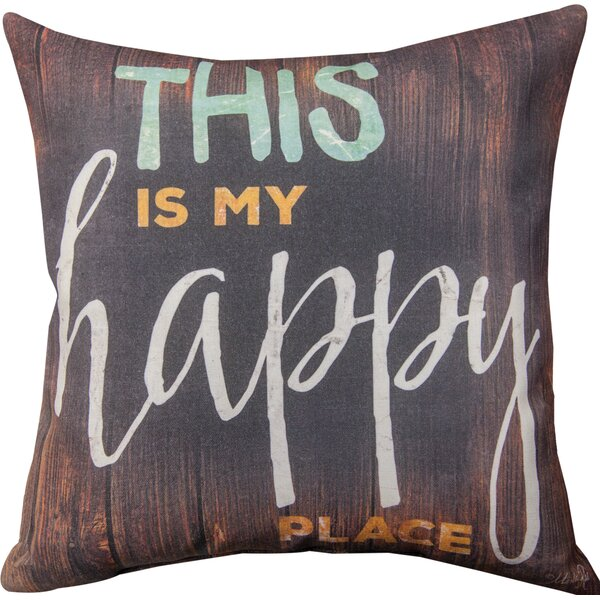 This is My Happy Place Throw Pillow by Manual Woodworkers & Weavers