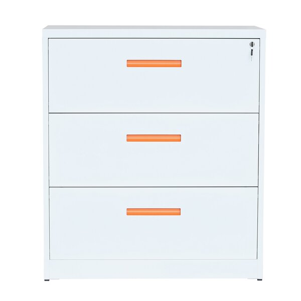 Glover 3-Drawer Lateral Filing Cabinet by ModernLuxe