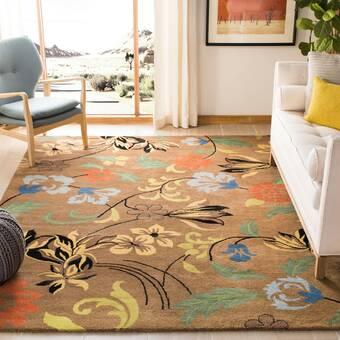 East Urban Home Lioness Yellow Area Rug Wayfair