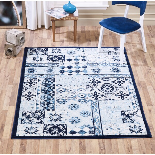 Mcmillen Patchwork Blue Area Rug by Bloomsbury Market