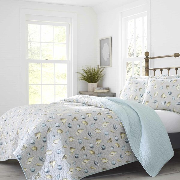 Cockatoo Bay Cotton Reversible Quilt Set by Laura Ashley Home by Laura Ashley Home