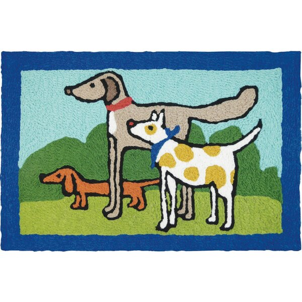 Beare Proper Pals Hand-Tufted Blue/Green/Gray Indoor/Outdoor Area Rug by Winston Porter