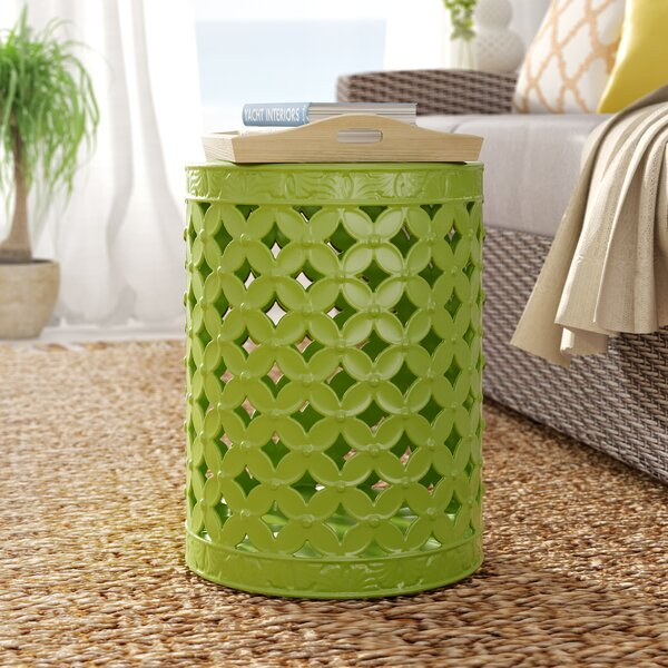 Gaynor Leaves Garden Stool by Beachcrest Home