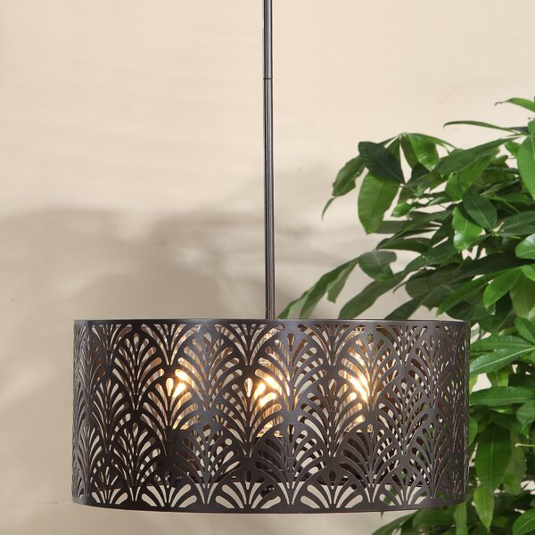 Walston 3 - Light Shaded Drum Chandelier By Bungalow Rose