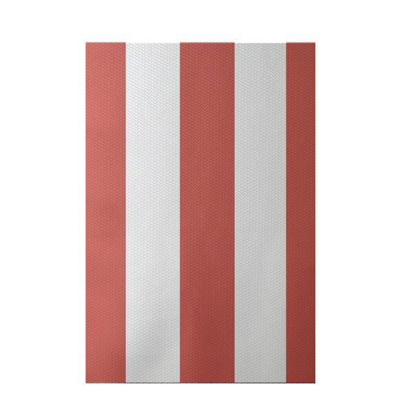 Caymen Stripe Print Seed Indoor/Outdoor Area Rug by Breakwater Bay