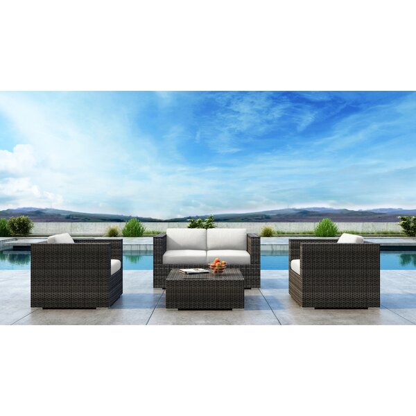 Gilleland 4 Piece Sofa Seating Group with Sunbrella Cushion by Orren Ellis