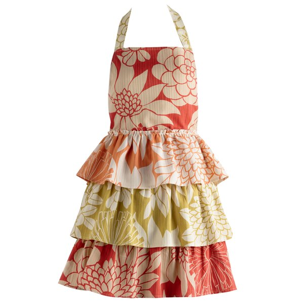 Tropical Trio Ruffles Vintage Apron by Design Imports