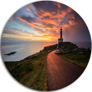 'Punta Nariga Lighthouse Spain' Photographic Print on Metal by Design Art