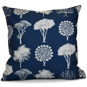 Miller Field of Trees Floral Throw Pillow