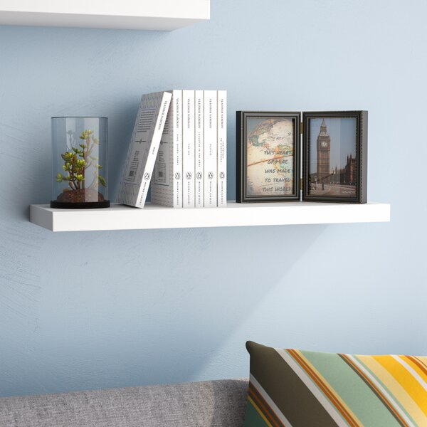 Board Line Floating Wall Shelf by Ebern Designs