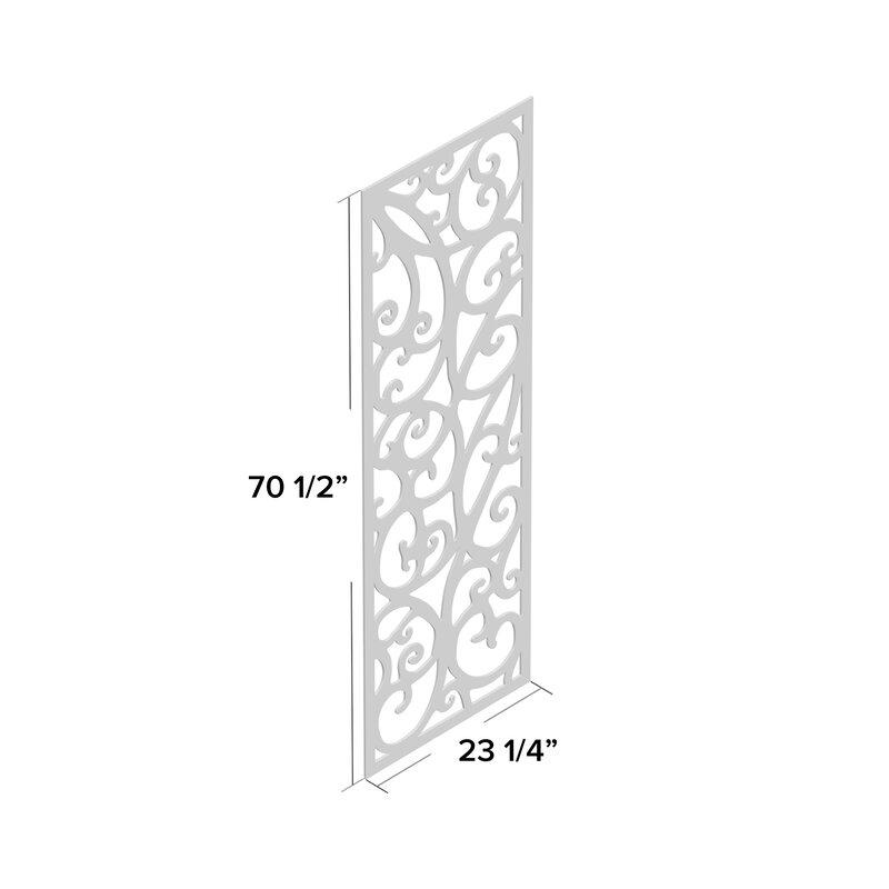 Fleur De Lis Living Panel Plastic Wall