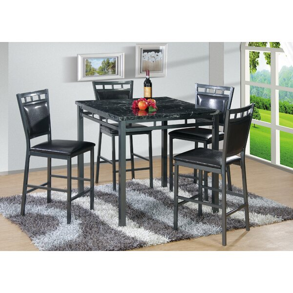 5 Piece Counter Height Dining Set by Best Quality Furniture