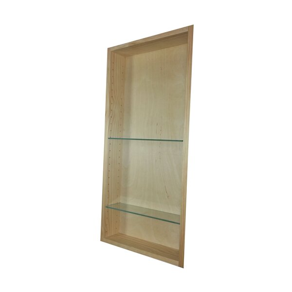 Aurora 13.5 W x 23.5 H Recessed Cabinet by WG Wood Products